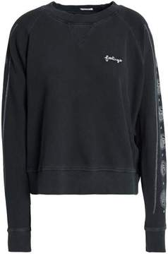 Mother Embroidered Cotton-Jersey Sweatshirt