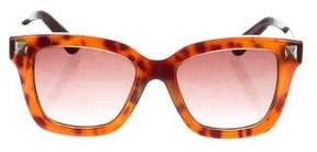 Valentino Oversize Tortoiseshell Sunglasses