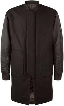 Juun.J Longline Wool Bomber Jacket