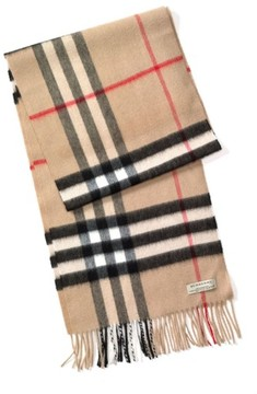 Men's Burberry Heritage Check Cashmere Scarf