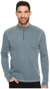Agave Denim Barrel Long Sleeve 1/4 Zip Slub Terry Men's Long Sleeve Pullover