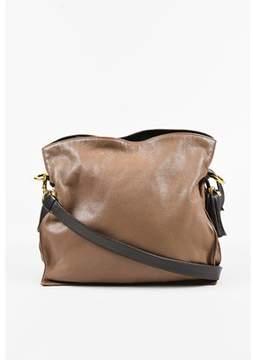 Loewe Pre-owned Two Tone Brown Leather Tasseled flamenco Drawstring Crossbody Bag.