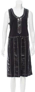Bottega Veneta Snake-Trimmed Midi Dress