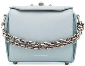 Alexander McQueen blue Mini leather box bag