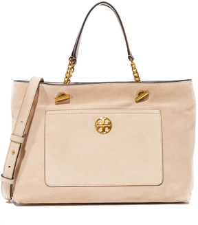 Tory Burch Chelsea Suede Satchel - STUCCO SUEDE - STYLE
