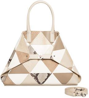 Akris Ai Small Python and Leather Shoulder Bag