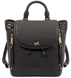 Michael Kors Evie Small Leather Backpack- Black - ONE COLOR - STYLE