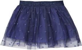 Lili Gaufrette Navy Tulle Spot Skirt