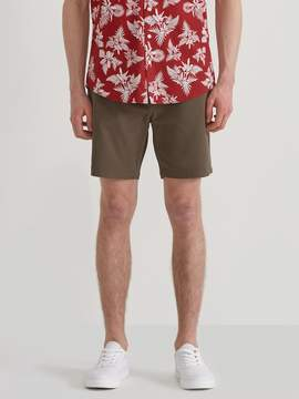 Frank and Oak Woven Stretch Twill Jogger Shorts in Chocolate Chip