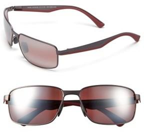 Maui Jim Men's 'Backswing - Polarizedplus2' 61Mm Polarized Sunglasses - Satin Dark Gunmetal/ Maui Rose