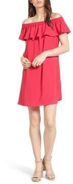 Chelsea28 Off the Shoulder Crepe Dress