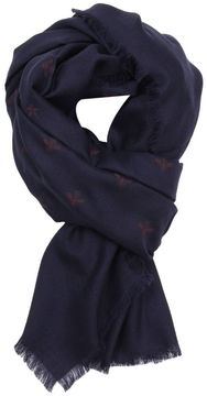 Gucci Scarf 135 X 135 Cm Scarf In Pure Silk And Wool With Bee Pattern