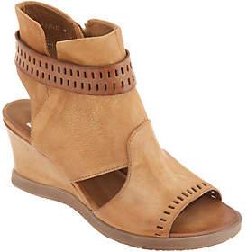Miz Mooz Leather Cutout Wedge Sandals -Brianne