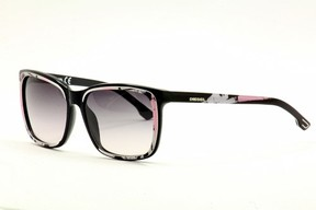 Diesel DL0008 Acetate 05B Black White Pink Smoke by for Women - 58-15-135 mm Sunglasses