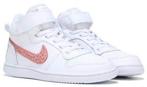 Nike Kids' Court Borough Mid Top Sneaker Preschool