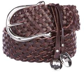 Michael Kors Woven Leather Belt