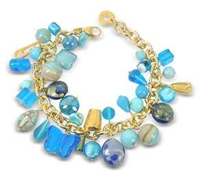 Antica Murrina Veneziana Women's Light Blue Metal Bracelet.