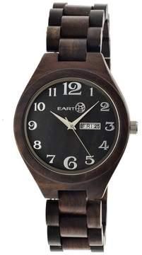 Earth Eco-Friendly Dark Brown Wood Sapwood Watch EW1602