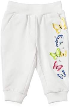 MonnaLisa Embroidered Cotton Fleece Jogging Pants
