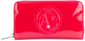 Armani Jeans logo embossed zipped wallet