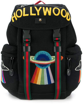 Gucci Hollywood embroidered backpack - BLACK - STYLE