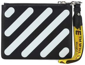 Off-White Diagonal Double Flap leather pouch