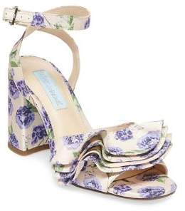 Betsey Johnson Blue By Flirt Floral-Print Sandals
