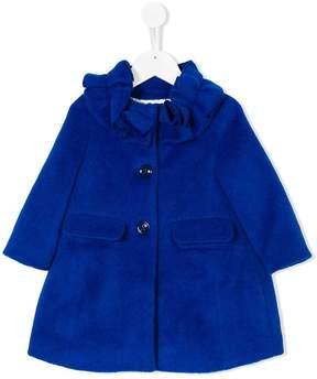 Simonetta ruffle collar single breasted coat