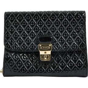 Tod's Black Patent leather Clutch Bag