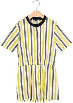 Marni Girls' Striped Short Sleeve Romper w/ Tags