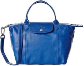 Longchamp Le Pliage Cuir Leather Handbag. - BLUE - STYLE