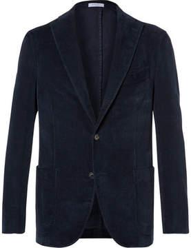 Boglioli Navy Slim-Fit Stretch-Cotton Corduroy Blazer