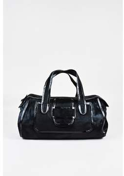 Pierre Hardy Pre-owned Black Pony Hair Patent Leather Trim Satchel Bag.