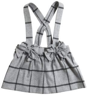 Il Gufo Plaid Flannel Skirt W/ Suspenders