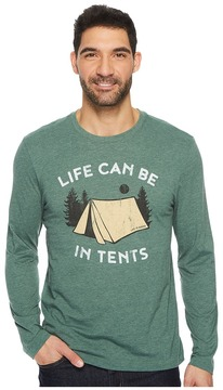 Life is Good In Tents Life Long Sleeve Cool Tee Men's Short Sleeve Pullover