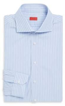Isaia Striped Wool Dress Shirt