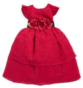 Laura Ashley Little Girl's Ruffled Lace Fit-&-Flare Dress