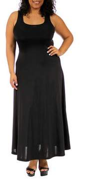24/7 Comfort Apparel Women's Plus Size Tank Maxi