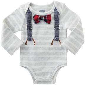 Mud Pie Long Sleeve Crawler with Bow Ties Boy's Jumpsuit & Rompers One Piece