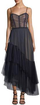 Cinq à Sept Coletta Sweetheart-Neck Fit-and-Flare Chiffon Cocktail Dress