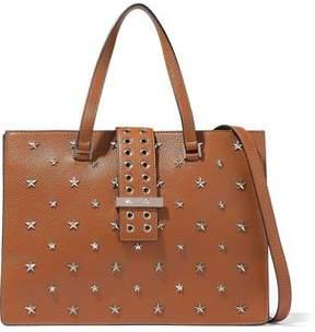 RED Valentino Embellished Textured-Leather Shoulder Bag