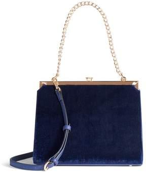 Lauren Conrad Runway Collection Dame Velvet Shoulder Bag