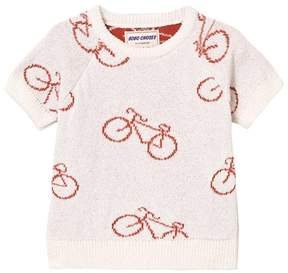 Bobo Choses Baby Knit Jumper The Cyclist AO Off White