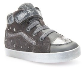 Geox Toddler Girl's Kiwi Studded High Top Sneaker