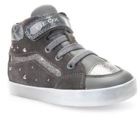 Geox Toddler Girl's Kiwi Studded High Top Sneaker