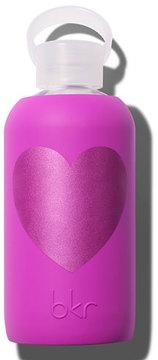 BKR Glass Water Bottle, Molly Heart, 17 oz./ 500 mL