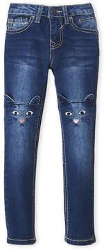 Vigoss Girls 4-6x) Kitty Knee Skinny Jeans