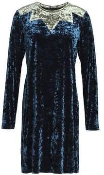Anna Sui Two-Tone Crushed Velvet Mini Dress