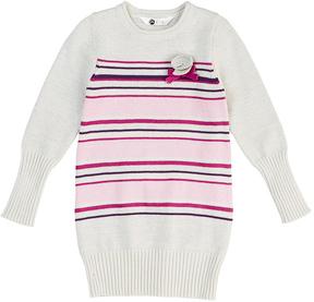 Petit Lem Off-White & Pink Stripe Sweater Dress - Toddler & Girls