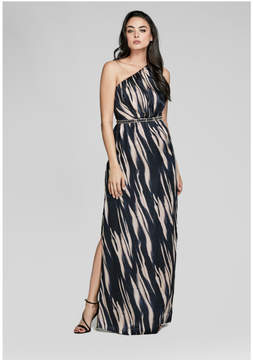 GUESS One-Shoulder Silk Gown